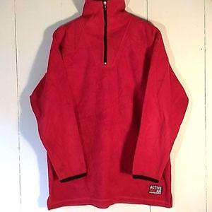 vintage week-end red fleece